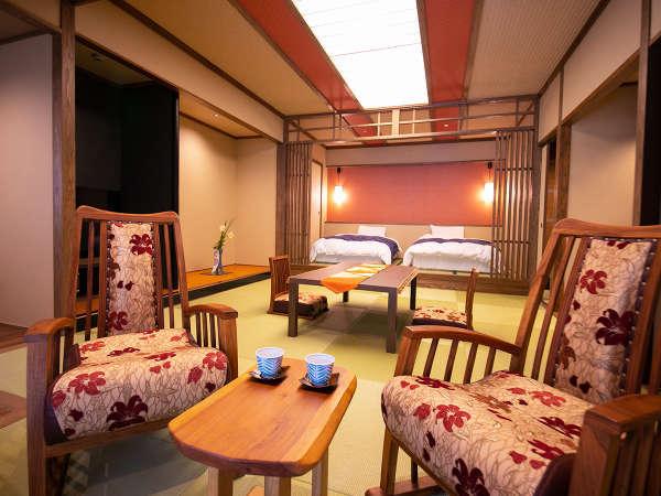 ◆2018年お部屋リニューアル露天風呂付き特別室◆つつじ‐優雅なお部屋から眼前に広がる小庭の木々を楽しむ