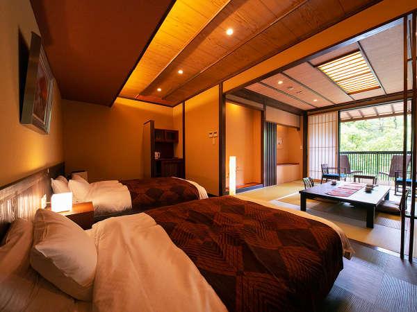 ◆2020年リニューアル展望風呂つき和モダン特別室‐朝霧‐‐かすみ‐◆ 館内唯一のモダン和洋室部屋