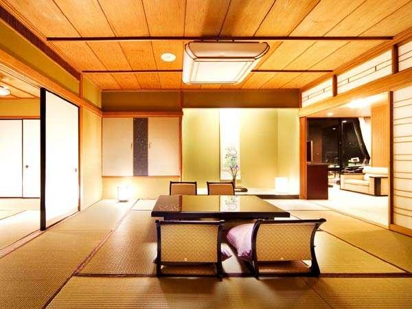 「雅」優雅に寛ぐ、掛け流しの露天風呂付き特別客室 88㎡(10+4.5畳+洋室30㎡)