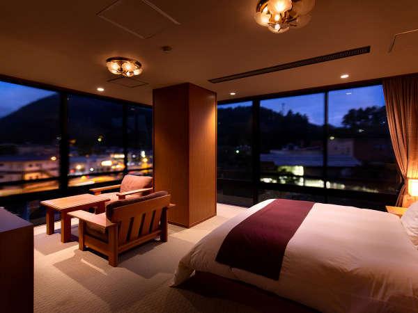 「雅」コーナー和洋室には快適な眠りにこだわったシモンズ社製のベッドを配しています
