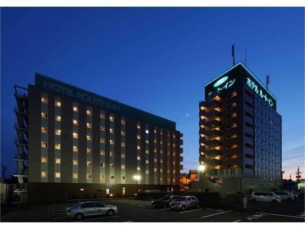 ホテルルートイン古河駅前の夕焼け風景です。青みががってムーディーです。