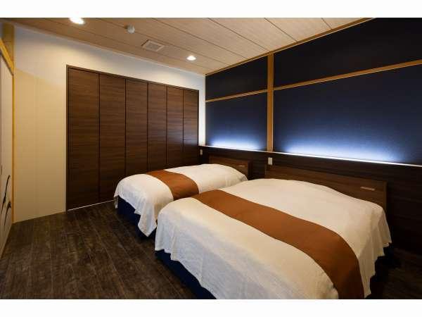 2例:半露天風呂付客室【ベッドルーム】