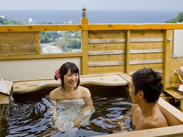 【お風呂】2人入れる露天風呂はやっぱり最高♪