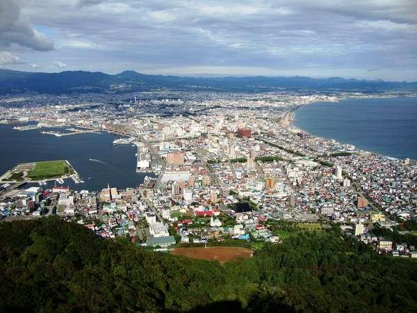 函館市街の景色