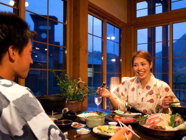 """""""地元の食材""""をふんだんに♪ふたりの会話も弾みます♪旬の創作料理が季節ごとに味わえます!"""