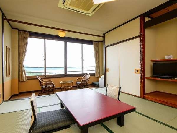 一般客室鳥羽湾一望・全室オーシャンビューの和室(バス・シャワートイレ付き)