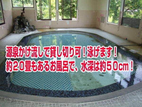【赤倉温泉 旅館 最上荘】源泉掛流しのプールのような大浴場!お得に全館貸切も可能です