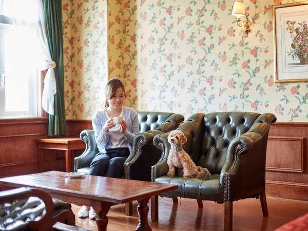 【ペットとお泊りルーム】ワンちゃんネコちゃん大歓迎。お部屋は、ヨーロピアン館2階フロアにございます。