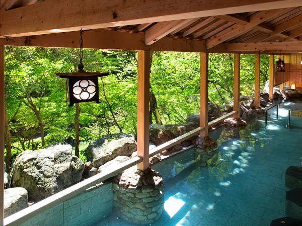 「白鳥の湯」立渓流沿いの絶景♪たち湯。マイナスイオンと天然温泉にいやされて♪