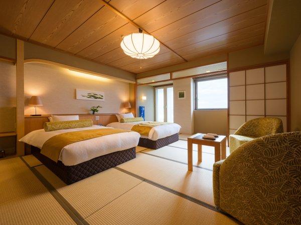 2017.4月誕生!日本海を一望できる「海側和洋室」新しいお部屋で寛ぎのひと時をお過ごしください