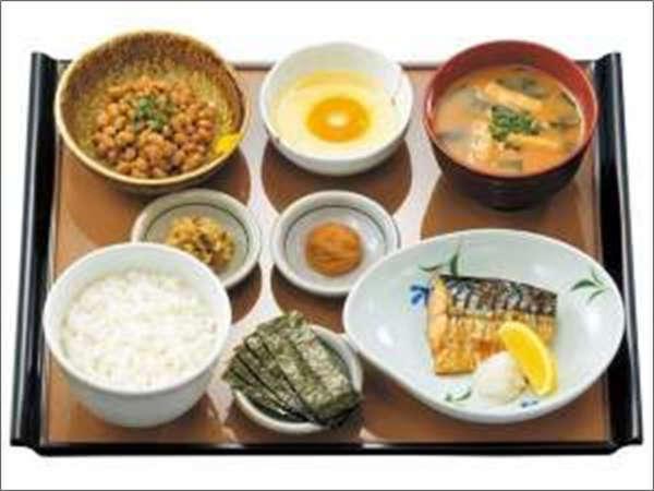 やよい軒ご朝食メニュー(焼魚と納豆の朝食)