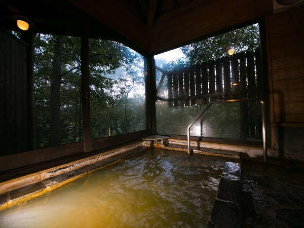 貸切風呂・日本一の炭酸泉を心ゆくまで。