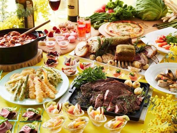 3/5~5/7まで「春野菜とイタリアンフェア ディナーブッフェ」を行っています。