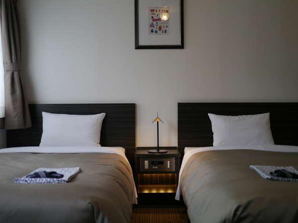 広めのツインルームでお寛ぎのご宿泊を・・