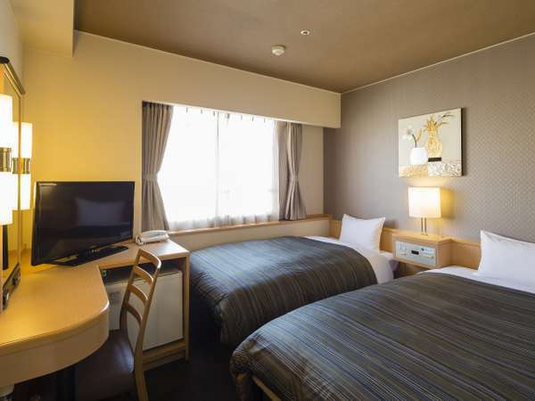 <エコノミーツイン>Wi-Fi完備 16平米/ベッド幅110cm1台・97cm1台