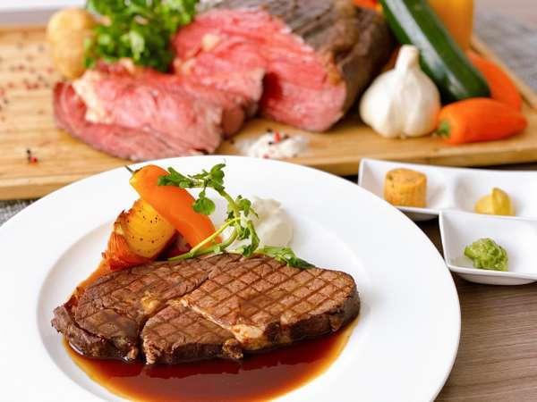 低脂肪・低カロリーでヘルシーな牧草牛を仕様したローストグリルビーフ
