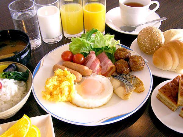 無料朝食☆日替わり和洋ミニバイキング☆