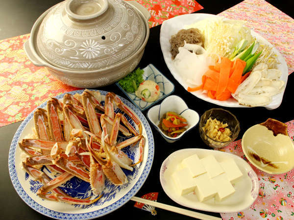 【かに鍋プラン】旨味の凝縮された蟹をお腹いっぱいお楽しみください♪