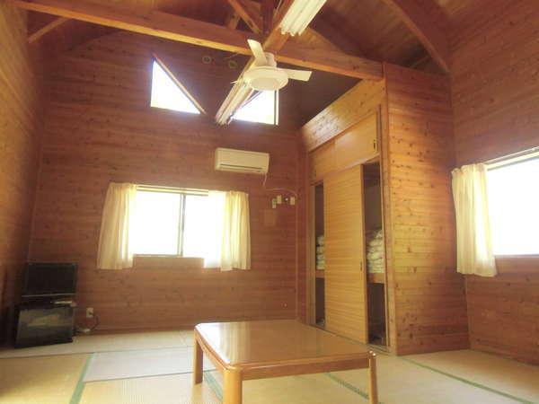 温泉付コテージが魅力!冷暖房、冷蔵庫、台所完備