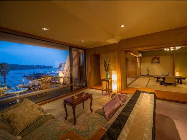 黒船スイートルーム。露天風呂付き客室。広々とした人気の客室です。