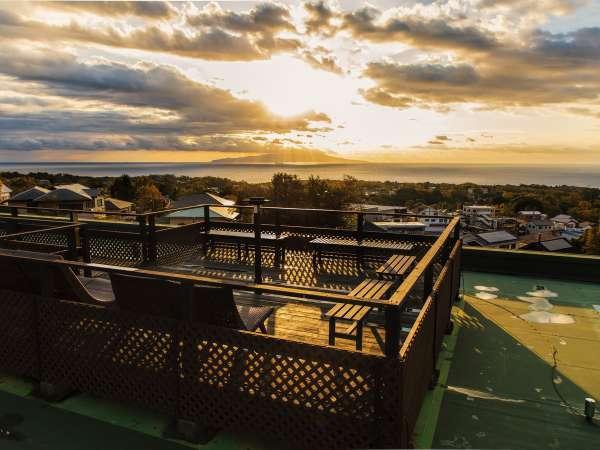 【別館】アンダ名物『360度パノラマ展望台』はロンボック館屋上にございます。一見の価値あり。