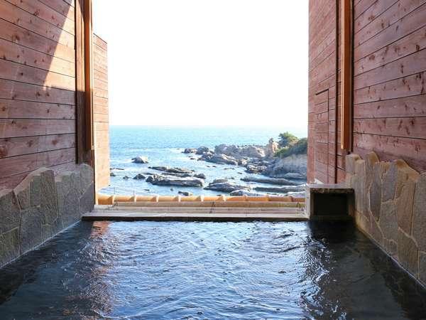 雄大な太平洋が一望!海の見える露天風呂☆