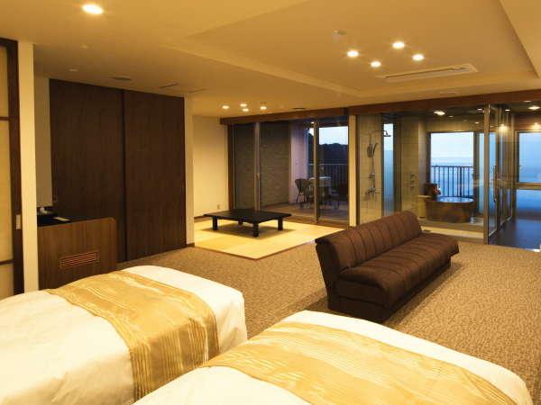 最上階(7階)海一望の露天風呂付き特別室~海と温泉を独占!