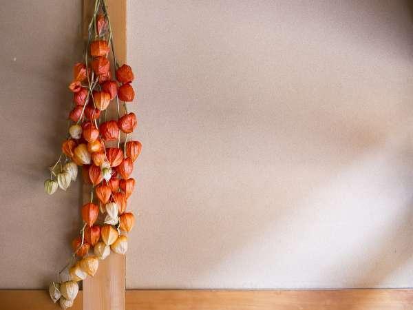 館内の季節感ある飾り