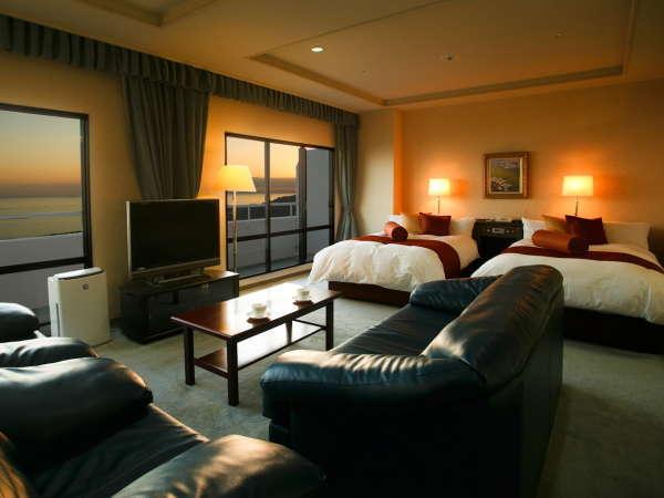 スイートルームは客室最上階にあり、広さ70平米、最大6名様までご宿泊いただけます。
