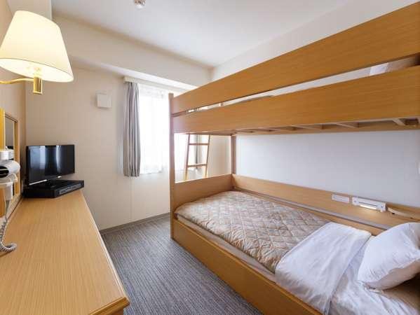 【2段ベッドルーム】シングルベッド(103×195cm)2台