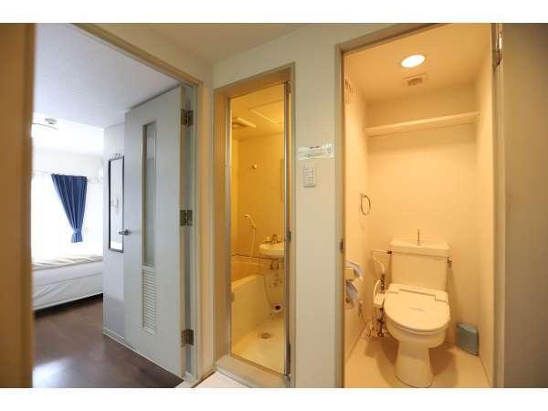 全室バス、トイレ(ウォシュレット付き)が室内で独立しております。