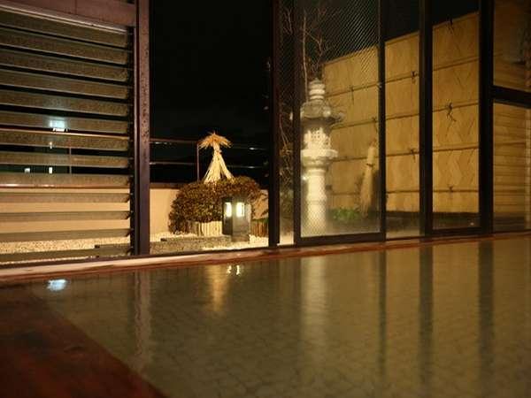 殿方大浴場【天慶の湯】檜風呂■夜景■