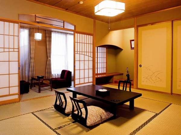 開放感と優越感に浸るスタンダード純和風客室10畳間庭園側