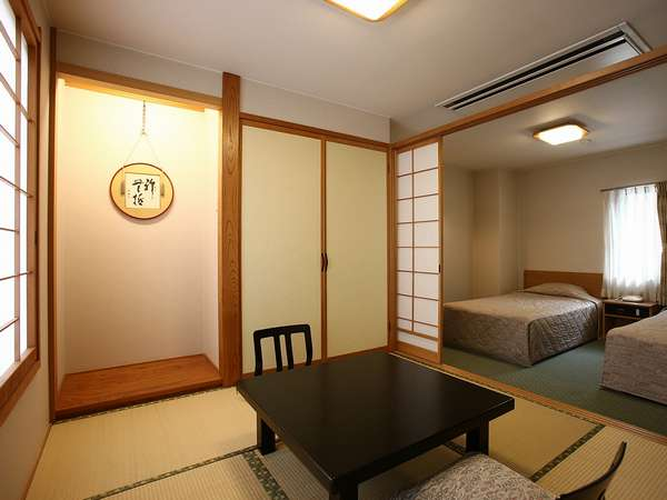 和洋室庭園側【シングルベットツインタイププラス4.5畳和間】2部屋限定