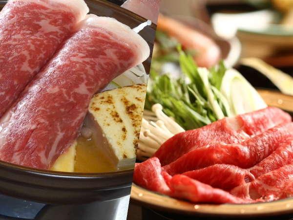 信州牛チョイス♪特製牛鍋orしゃぶしゃぶをお選び頂けます。