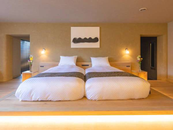【NEW OPEN★プレミアムスイート】大きなベッドは2つ繋げることも可能です