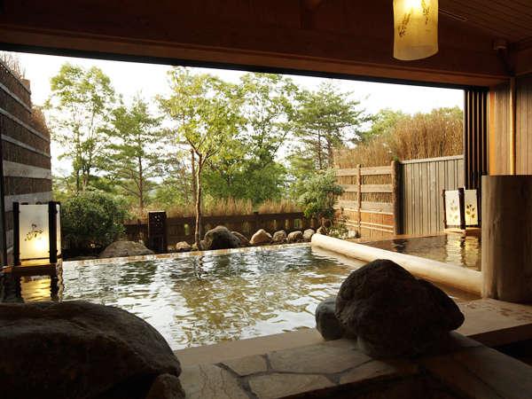 【古の湯】お風呂につかりながらの景色は最高