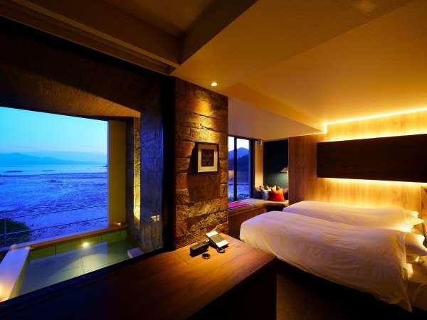 【Luxuryスイート/405】2019年12月に完成した、蟹御殿史上最もラグジュアリーでリゾートな新客室
