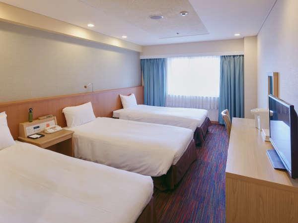 ◆24.7平米のトリプルルーム (4階~9階)正ベッド3台で広々快適