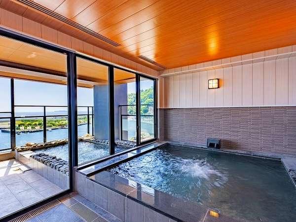 【炭酸露天風呂】通称ラムネ風呂の「炭酸風呂」をお楽しみください