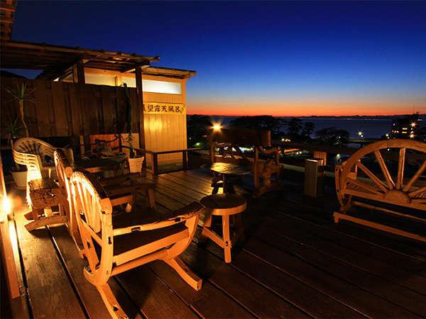 【温泉】湯上り展望台からは世界一の花時計と駿河湾と見渡す