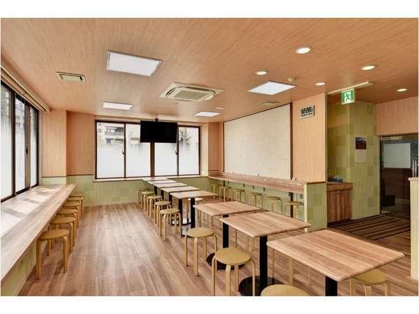 フリーラウンジ・朝食会場食事、コミュニティの場として24時間いつでもご利用頂けます。