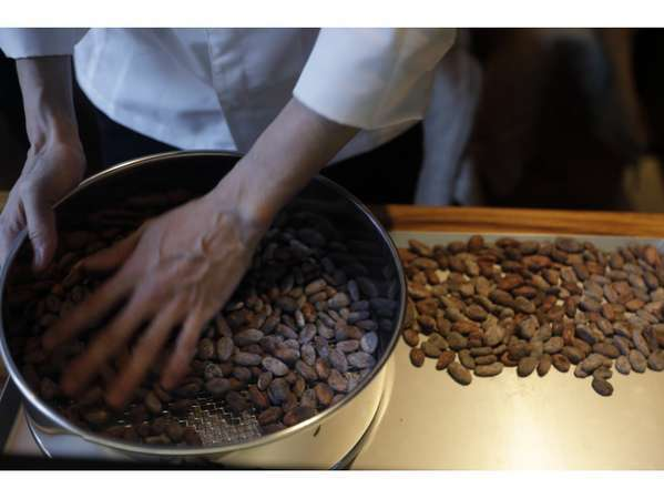 Nel Craft Chocolate Tokyoオリジナルのチョコレート工房があります。