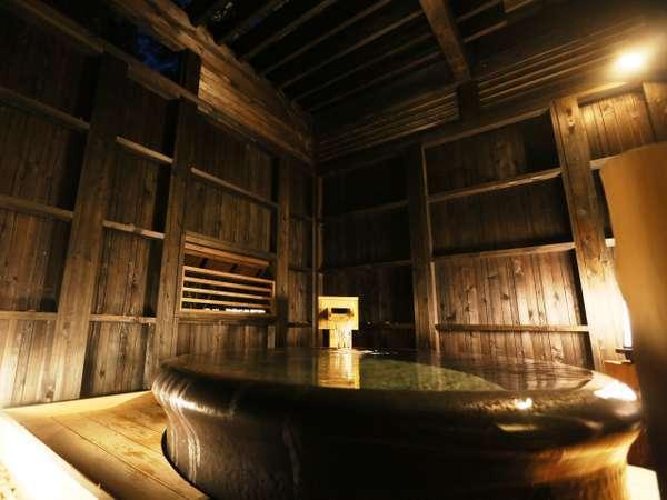 【無料貸切露天風呂】陶器風呂