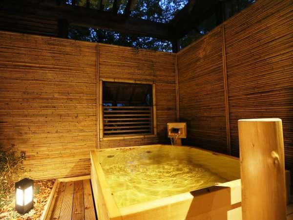 【無料貸切露天風呂】檜風呂