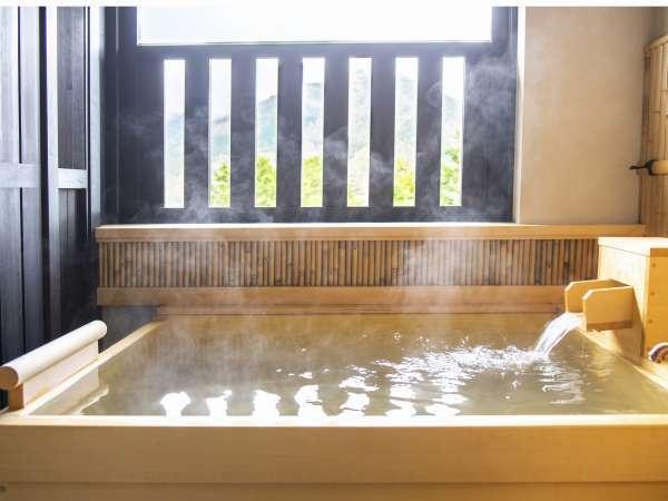 お好きなときに何度でも。お部屋で気ままに楽しむ天然温泉の露天風呂。