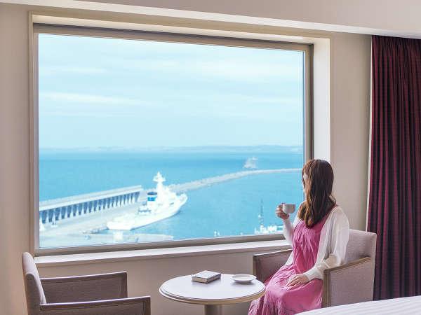 ■滞在イメージ(海側客室)■最北の水平線と行き交う船。時折響く汽笛の音に心奪われる―…