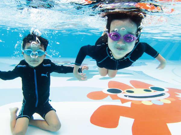 お子様向け!水深90cmのプールです!