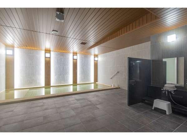【大浴場】開放的な空間でサウナ&水風呂もございます!