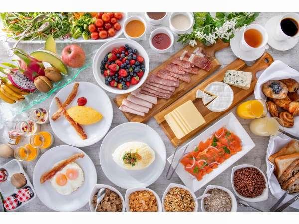 ヘルシーな食材を取り揃えた朝食ブッフェ(イメージ)